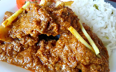 meat spicy coconut lamb